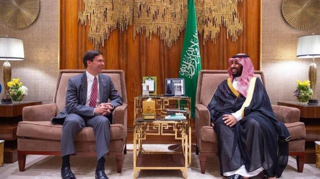 ولي العهد السعودي يستقبل وزير الدفاع الأمريكي لبحث تعزيز التعاون العسكري بين البلدين