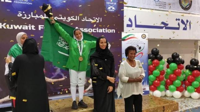 الأميرة نوف بنت خالد تتوج حسناء الحماد بأول ميدالية ذهبية تحصدها المملكة في منافسات الدورة الرياضية