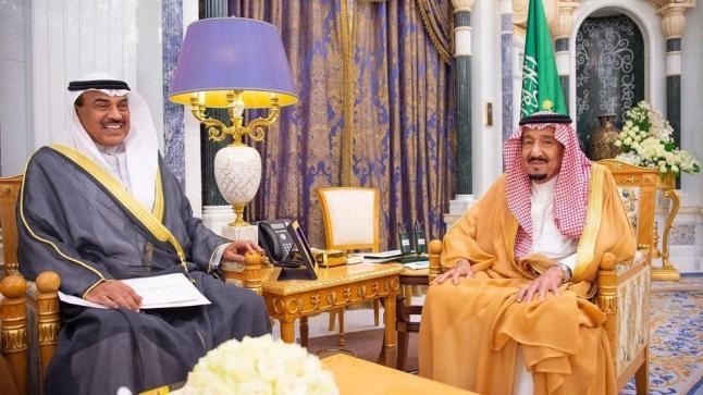 خادم الحرمين الشريفين يستقبل رسالة خاصة من الشيخ صباح الأحمد أمير دولة الكويت